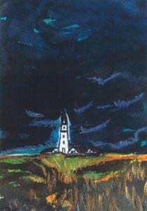 Leuchtturm unter großem Himmel
